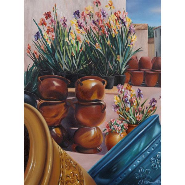Glazed French Pots 51x61cm