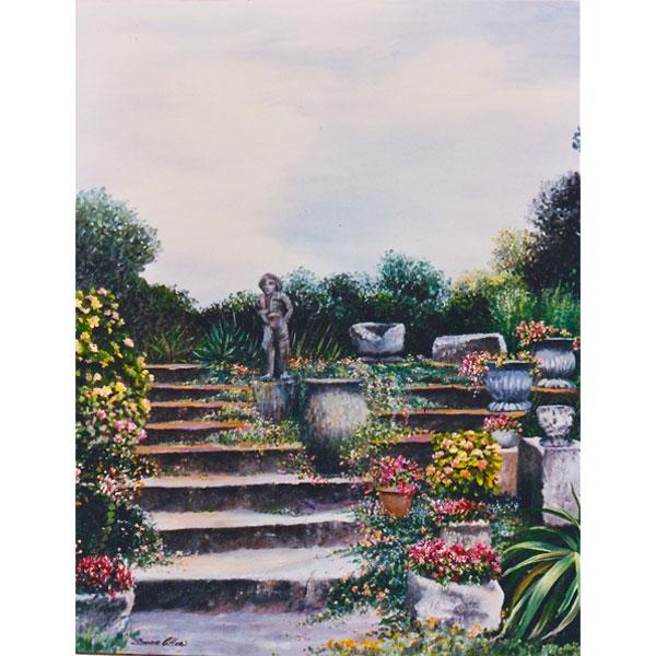 French Garden 63x76cm- SOLD