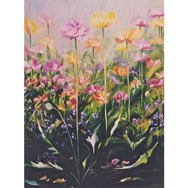 Pastel Poppies 51x61cm- SOLD