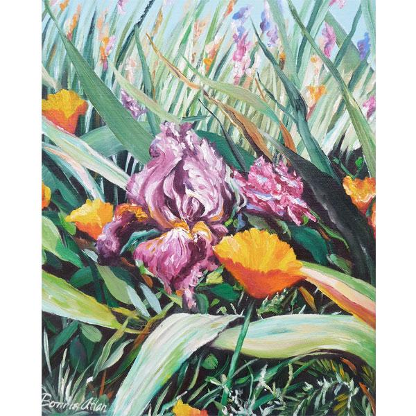 Purple Iris 15x19cm- SOLD