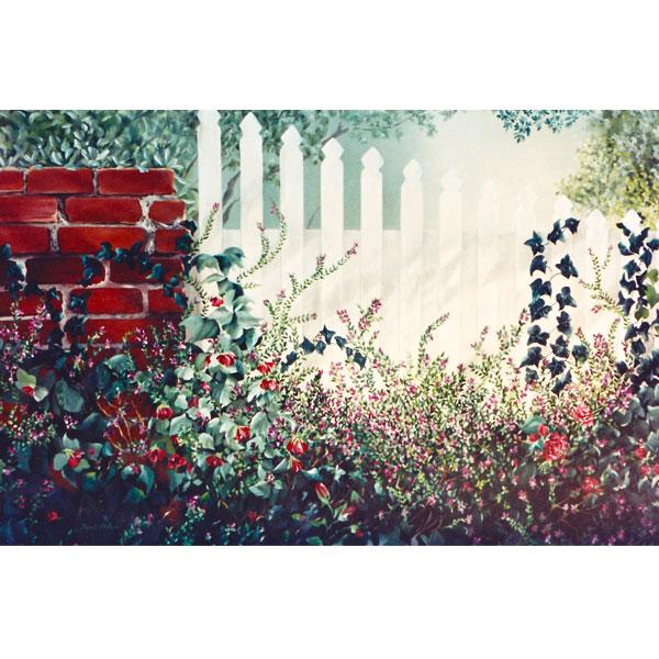 Jennifer's Fence 102x76cm- SOLD