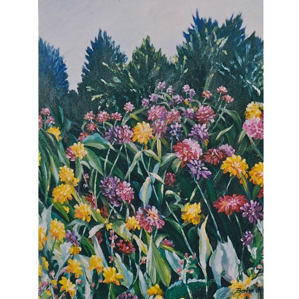 Zinnia Garden 26x36cm- SOLD