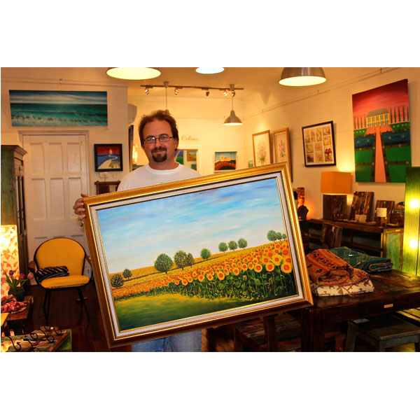 Craig with Sunflower Soldiers- SOLD