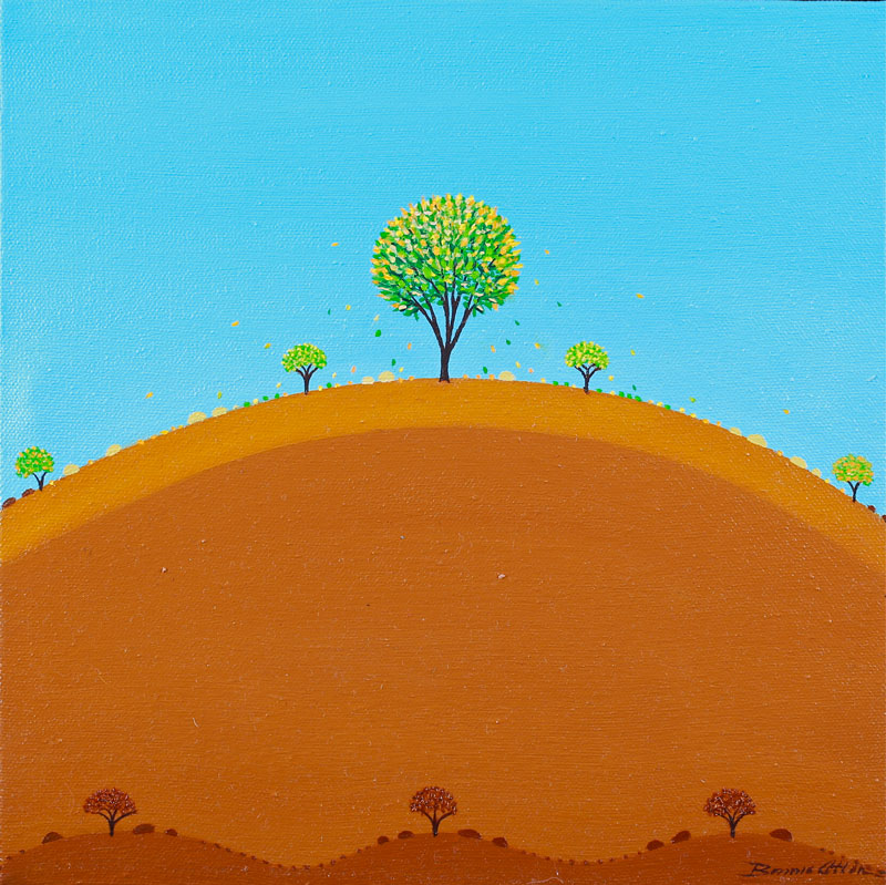 Green Tree 30x 30 cm -SOLD