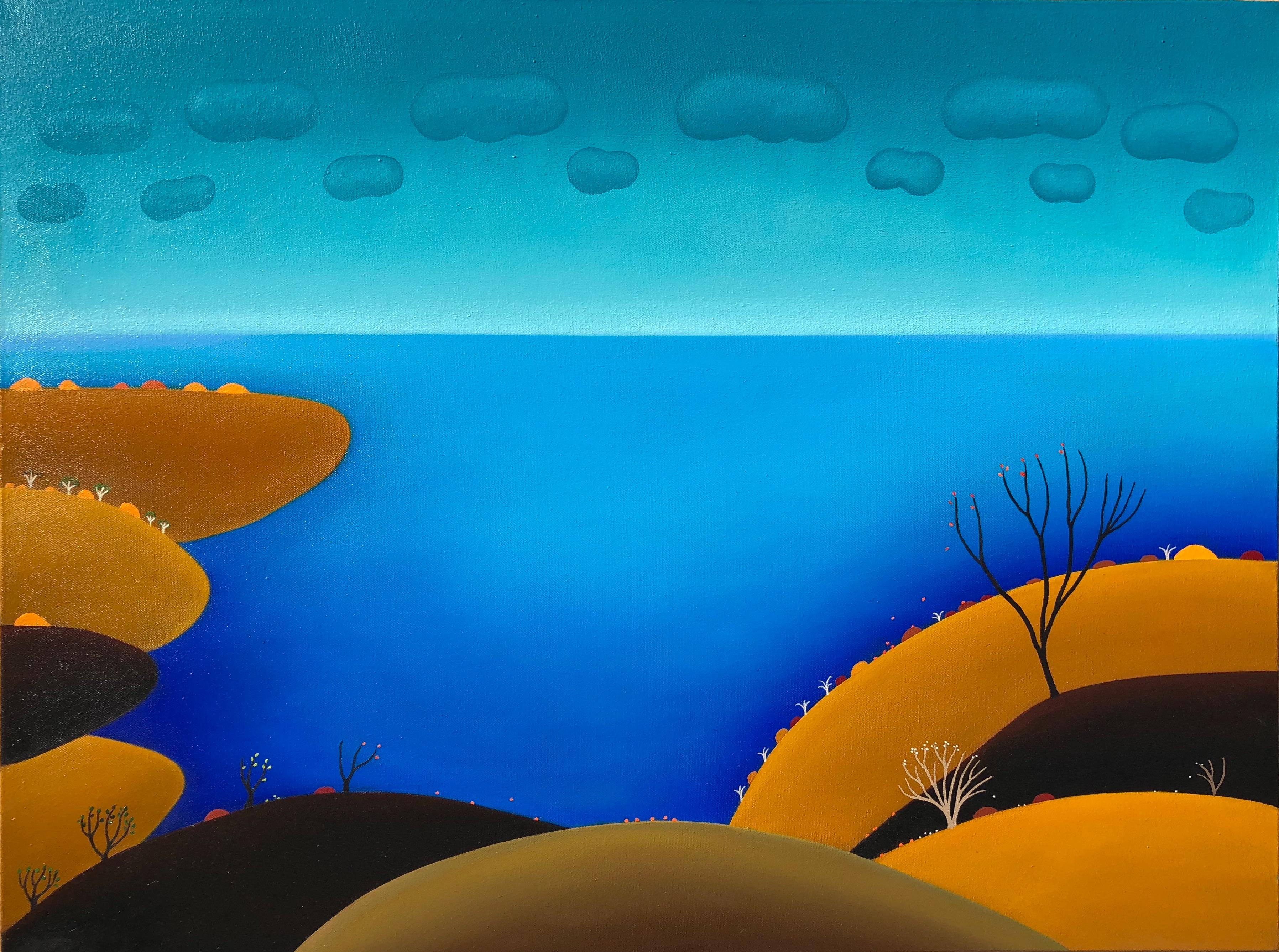Distant Rain-100 x 80 cm - $3,900