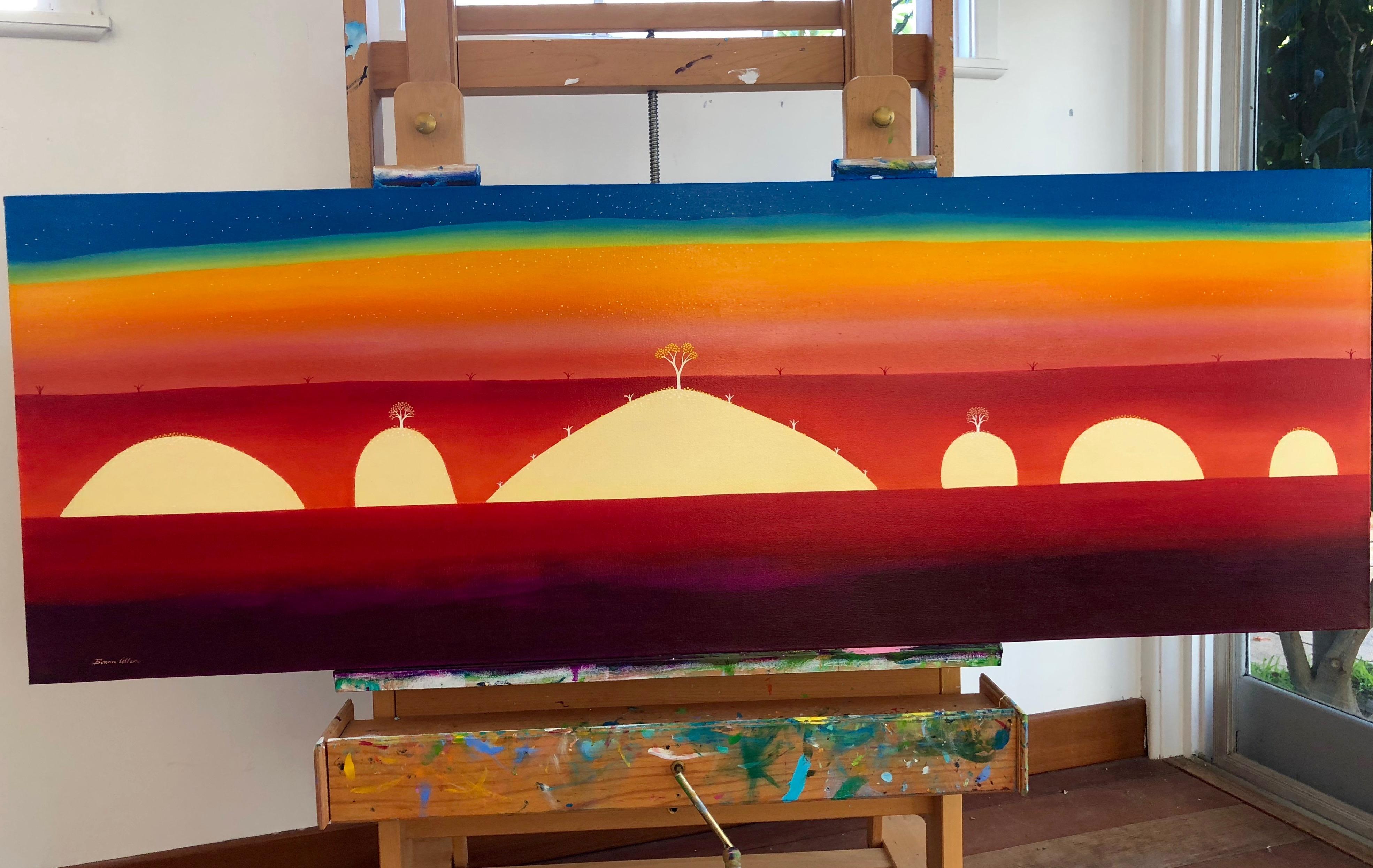 Neon Rainbow-200 x 70 cm - SOLD