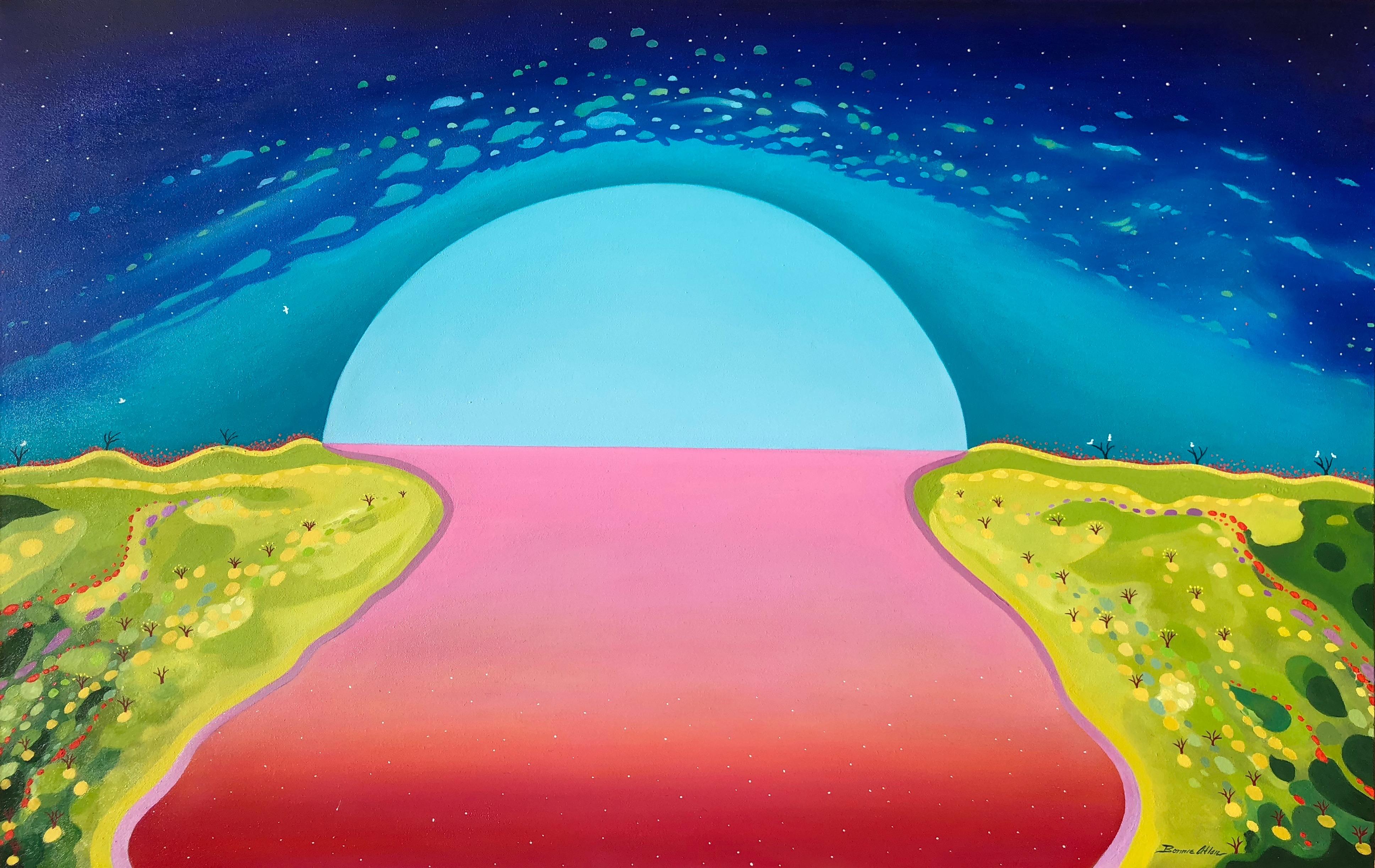 Pink Lake-125 x 80 cm - $4,500