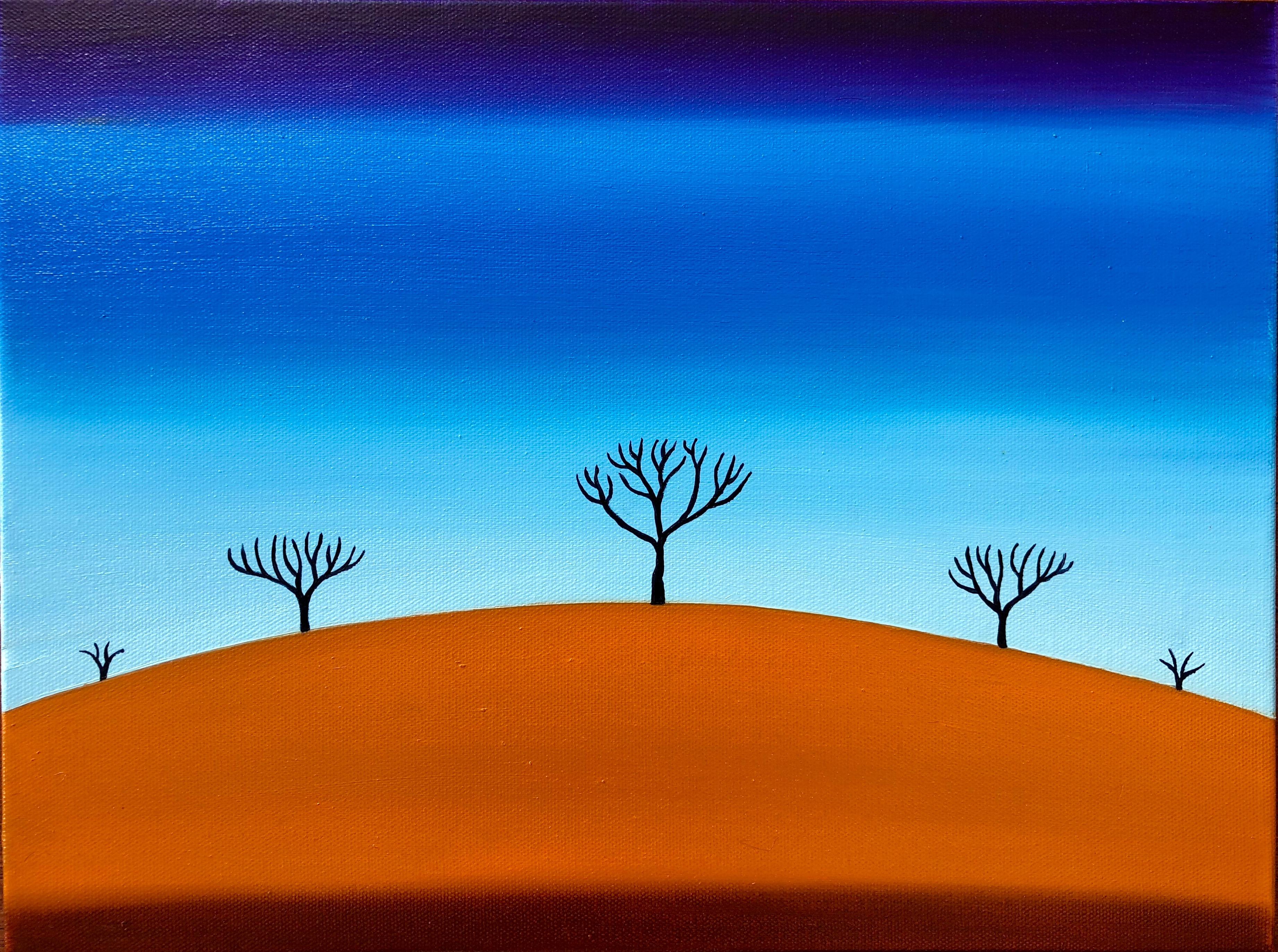 Sienna Hill - 45 x 35 cm - SOLD