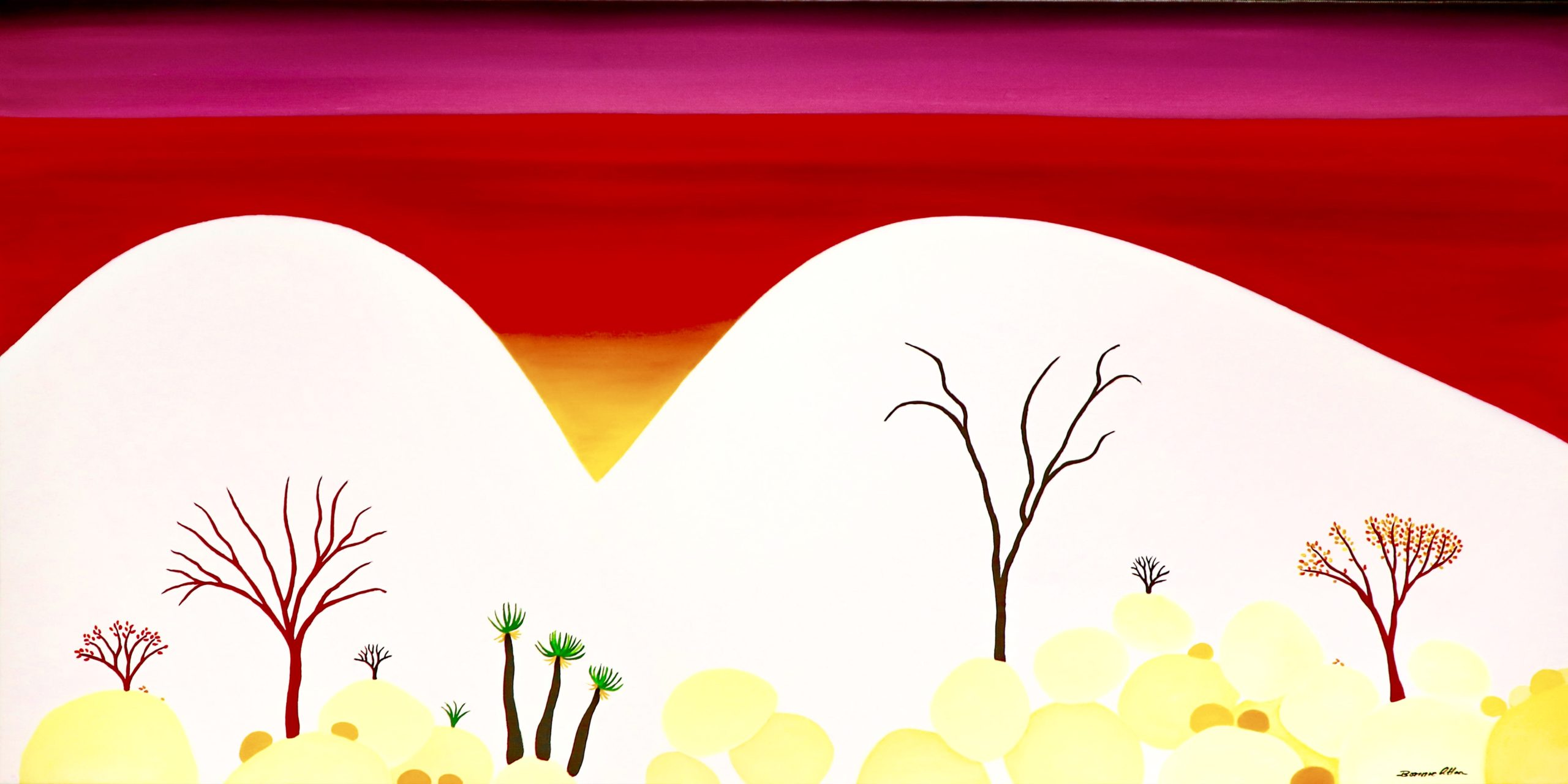 Outback Sunset - 101 x 51 cm - $2,200