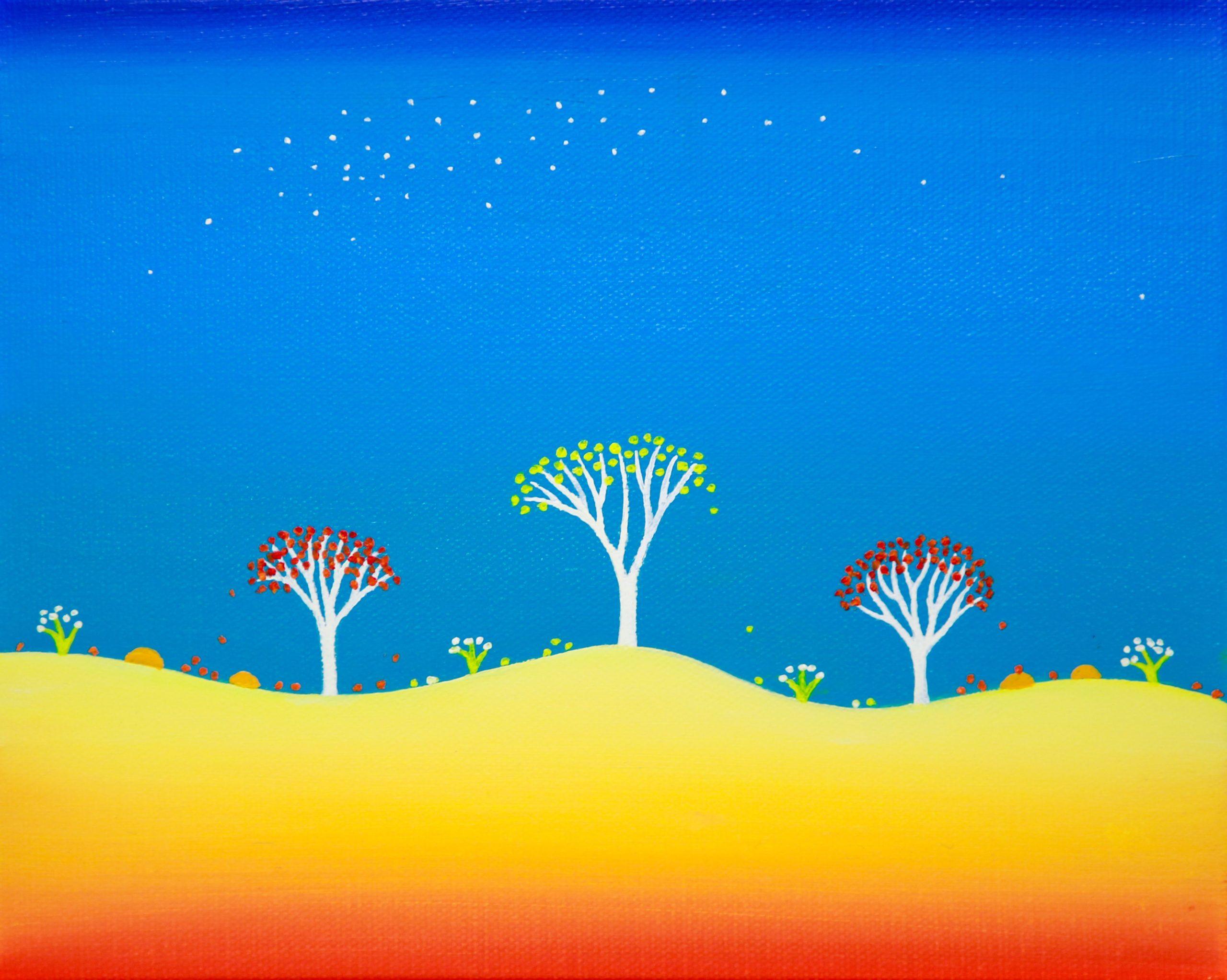 Turquoise Night - 20.5 x 20 cm - $690
