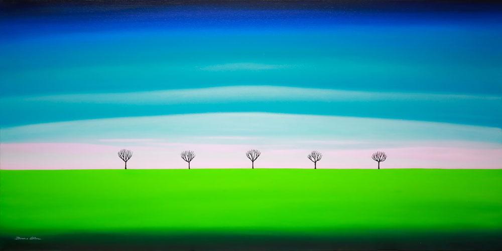 Distant Trees - 128 x 61 cm -$3,200
