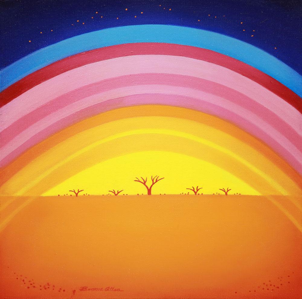 Midnight Rainbow - 30 x 30 cm -$850