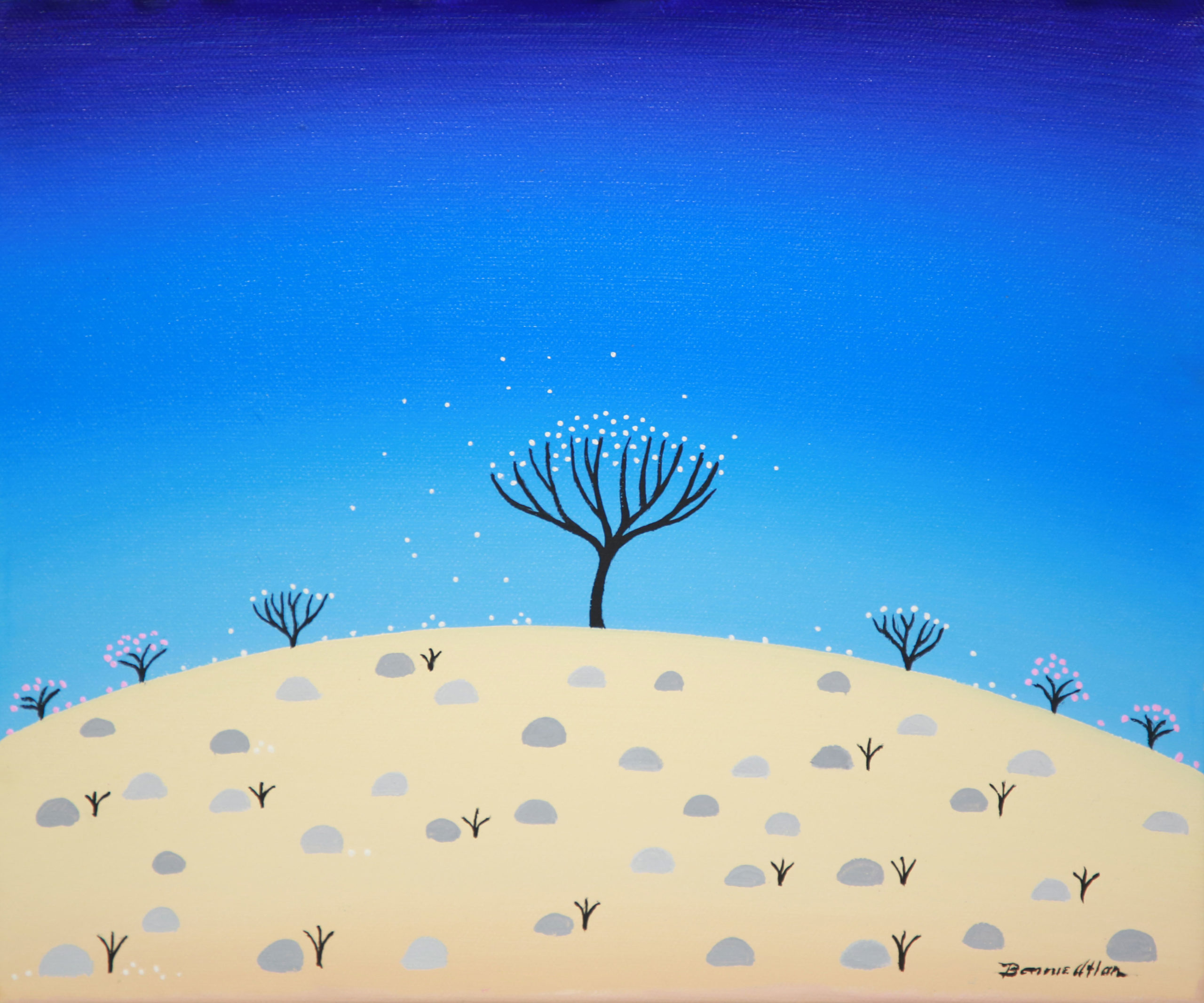 White Petal Tree - 25 x 30 cm - $850